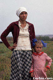 A Mother and a Daughter in a Field